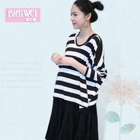 2014 new  summer fashion plus size maternity clothing maternity 2 piece set one-piece dress maternity dress  free shipping