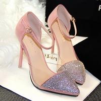 New arrival fashion 10CM high heel sandals for women with rhinestones EU 34-39