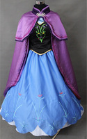Free Shipping Frozen Cosplay Costume Anna Frozen Coslay Costume