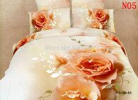 Top Quality Oil Printed 3D visual Bedding set 100% Cotton Queen Bedding Sets 4 Pcs Bedsheet Set Duvet Cover PillowCase Bed Sheet