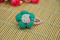 10pcs/lot (7 Colors) Fashion Charming Girls/children Cotton Flower Hair Clips Accessories For Women PJ064