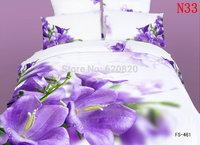 3D visual Purple Bedding set Comforter Set Queen Size Bedding Sets 4 Pcs 100% Cotton Bedsheet Duvet Cover PillowCase Home decor