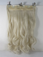 """New One 24"""" Synthetic Fiber 130g 6Clips On Cap Wig Pure More Hair Colors # 60"""