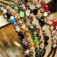 Korean hair accessories hairpin super flash colorful irregular crystal hair hoop headband girls' gift