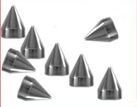 30 diy rivet rivets leather clothing 0.95cm silver punk bullet three-color