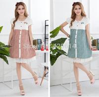 Summer Dress 2014 Women Shorts New, Flower Girl MATERNITY Dress, PLUS SIZE Desigual Maternity Clothes Pregnancy dresses 80086A