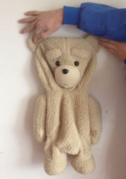 55cm Ted bear skin genuine, authentic teddy bear coat, cheap baby bear plush doll bear valentine(China (Mainland))