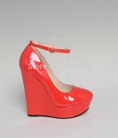 sale 2014 new arrival 16cm high heels wedges sexy shoes 3cm platform pumps fashion party shoes wedding shoes plus size:40-45 46