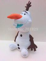 NEW 30CM Cartoon Movie Frozen Olaf Plush Toy doll Stuffed Cotton Snowman Olaf Toys High quality Dolls 6PCS/Lot