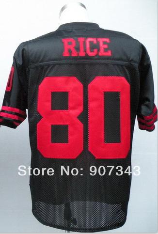 #80 Jerry Rice Jersey,Throwback Football Jersey,Sport Jersey,Size M--XXXL,Accept Mix Order(China (Mainland))