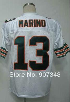 #13 Dan Marino Jersey,Throwback Football Jersey,Sport Jersey,Size M--XXXL,Accept Mix Order(China (Mainland))