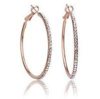 CE84Fashion rhinestone exaggerated luxury Big Circle Earrings female ear ring   wholesale B6.5