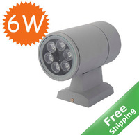 Outdoor LED wall light + 6W led + AC 85-265V +  IP 65 + Free shipping
