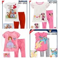 Children New Cotton Long Sleeve Cartoon minnie & Sofia Pajamas Baby Girl Boys Sleepwear Kids Blue pyjamas clothes sets