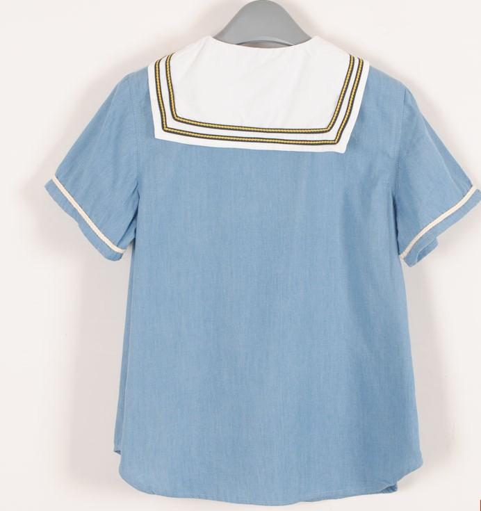201 new arrival! FREE SHIPPING Janpanese style sailor shirt! girls ladies sailor suit!very japan girl fashion T-SHIRT(China (Mainland))
