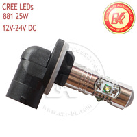 Free Shipping!!! H27 881 5*5W CREE Chip LED Fog Light, 25W Fog Light With Clean Lens 4 pcs/lot