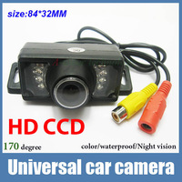 Universal CCD HD night vision Car front view camera car rear view camera fit all car Hyundai k2 focus kia corolla parking camera