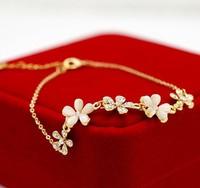 Korean Fashion Jewelry Gift For Women Crystal Opal Flower Bracelets & Bangles