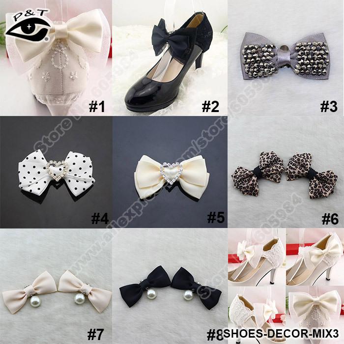 40 pçs/lote projeto mista tecido sapatos Decor ornamento clipe com acessórios de Metal clipe artesanato para calçados casamento grátis frete(China (Mainland))
