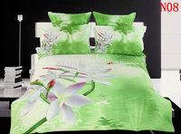 3D visual Bedding sets Fresh Comforter Set Queen Size Bedding Set 100% Cotton Bedsheet Duvet Cover PillowCase 4 PCS Home Textile