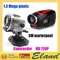 F22 digital video camera Camcorder mini DV 3M waterproof 720p HD free shipping