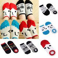 Free shipping Men Women Cartoon socks / Lovely Cotton Character Face Socks 1pairs/lot 72765-72769