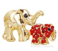 Hot sales 6 Color New European Fashion elephants Jewelry Style Rhinestones Brooch Free shipping C23821