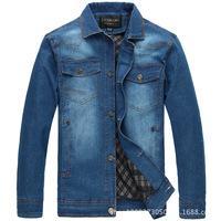 XXXL/ XXXXL/ XXXXXL/ XXXXXXL 3XL 4XL 5XL 6XL Plus Big Size Fat Men Clothing Fashion Casual Wash Blue Denim Jacket Jeans Coat