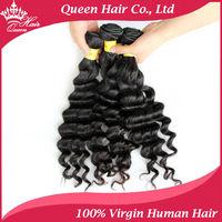 "Queen Hair Products Peruvian Loose curl virgin hair 4 bundles/lot 12""-28"", Peruvian More wave,brazilian virgin hair loose wave"