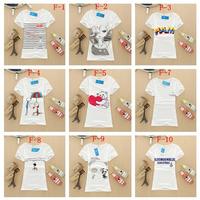 Free Shipping New 20 Style Summer Fashion Cotton Short Sleeve Women T-Shirt Girl Blouses Women Clothing