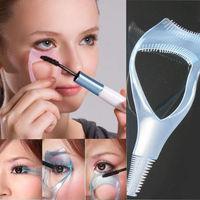 Hot Wholesale Lots Makeup 3 in 1 Mascara Eyelash Brush Curler Lash Comb Cosmetic