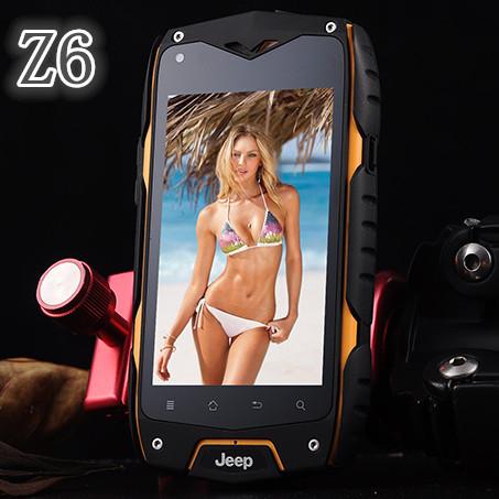 Original IP68 Z6 Waterproof Phone Dustproof Shockproof MTK6572 Dual Core Smartphone 3G GPS Android Cell Phones 1:1 MANN Zug3(China (Mainland))