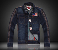 Men's Outerwear&Coats! Fashion American Flag Style Cotton Denim Jackets Fashion Slim Fit Cool Jeans Jacket For MEN