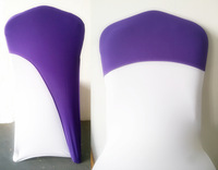 chair caps for weddings,spandex chair cover fit all chairs,purple colour,220Grams high quality