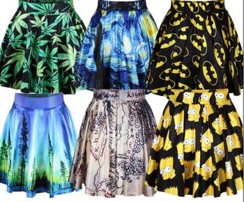 Яркие расклешенные летние юбки с оригинальными принтами.