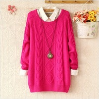 New 2013 autumn slim pullover o-neck long-sleeve Knitted Jacquard women's sweater fall 2013 cardigan women ZZS 3102