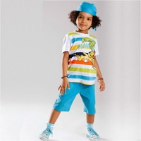 fashion style  2014 new boy short character set summer 3pcs set Special price children's sports suit baby boy clothes