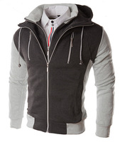 Mens 2014 New sports casual Good design outwear Slim Hoodies & Sweatshirts Coats&jackets MHS034