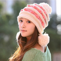 caps beanies female winter influx korean women warm knitted with ball ear hats wholesale woman fashion autumn skullies casual