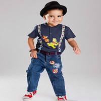 set  clothing set  boy cotton sport summer set hot sale  baby boy 3 pieces set shirt+jeans+belt