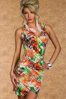 Retro Vintage Brand Designer Print Sexy Women Bodycon Dress Nightclub Clubwear Club Dresses