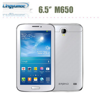 Cheapest Big screen Smart mobile phones 6.5 inch smartphone MTK8312 Dual core android 4.1 phone M650