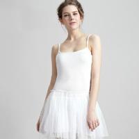 new 2015 summer stretch modal gauze lace spaghetti strap basic ball gown sexy women dress white / black / beige C373
