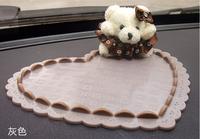 Hot item! Free shipping Heart And Cute Bear CAR Powerful Silica Gel Magic Sticky Pad Anti Slip Non Slip Mat for Mp3 Mp4 Phone