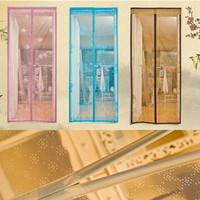 New arrivral retail magic mesh hands-free jacquard weave screening door curtain magnetic anti mosquito top qulity