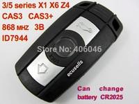 3 Buttons Remote Key 868 MHZ for BMW 3/5 Series X1 X6 Z4