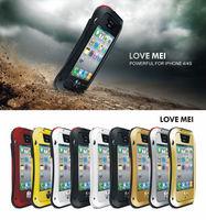 Original LOVE MEI Dirtproof Shockproof Waterproof Aluminum Gorilla Metal Case Cover for Apple iPhone 4 4S Gorilla Cases