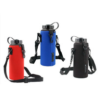 1000ML Pouch Holder Shoulder Strap Water Bottle Carrier Insulated Cover Case Bag 3colors Free shipping