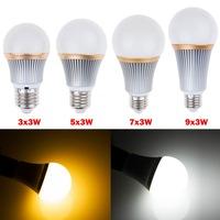Dimmable 110V 220V E27 LED Global Bubble Ball Bulb Spotlight Lamp Light Cool White Warm White AC85-265V 9W 15W 21W 27W 180Degree