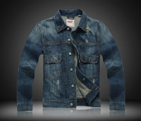 Men's Vintage Denim Outerwear European And American Fashion Men Denim Jacket Fashion Denim Coat F006